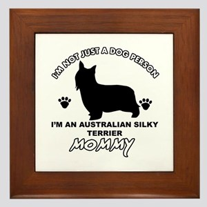Australian Silky Terrier Mommy designs Framed Tile