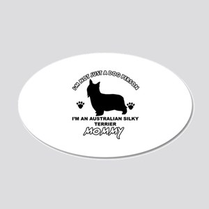 Australian Silky Terrier Mommy designs 20x12 Oval