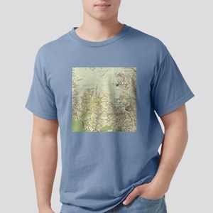 Vintage Map of The Hampt Mens Comfort Colors Shirt