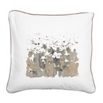 Beaver burst Square Canvas Pillow