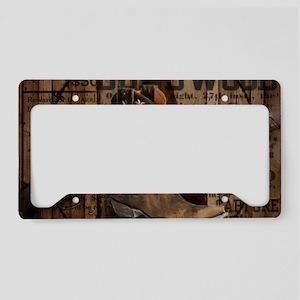 western cowboy License Plate Holder