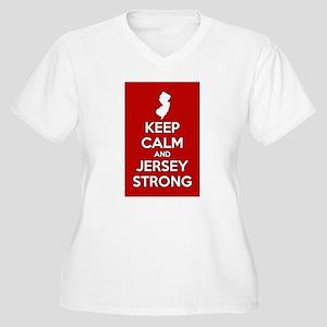 Keep Calm Jersey Strong Plus Size T-Shirt