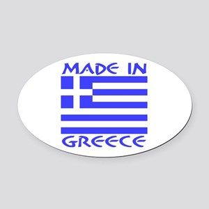 Made in Greece Oval Car Magnet