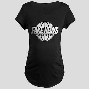 Fake News Network Maternity Dark T-Shirt