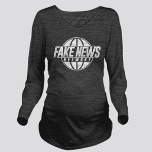 Fake News Network Long Sleeve Maternity T-Shirt