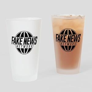 Fake News Network Drinking Glass