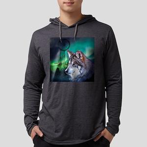 native dream catcher wolf northe Mens Hooded Shirt