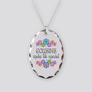 Cousins Make Life Special Necklace Oval Charm