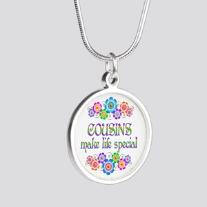 Cousins Make Life Special Silver Round Necklace