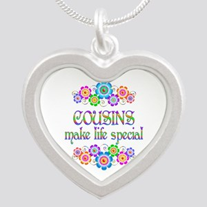 Cousins Make Life Special Silver Heart Necklace