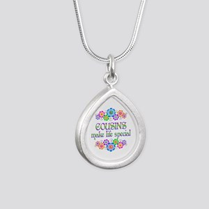 Cousins Make Life Specia Silver Teardrop Necklace