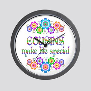 Cousins Make Life Special Wall Clock