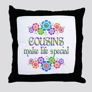 Cousins Make Life Special Throw Pillow