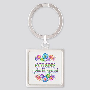 Cousins Make Life Special Square Keychain