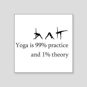 "yoga practice Square Sticker 3"" x 3"""