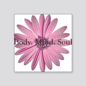 "yoga flower Square Sticker 3"" x 3"""