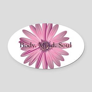 yoga flower Oval Car Magnet