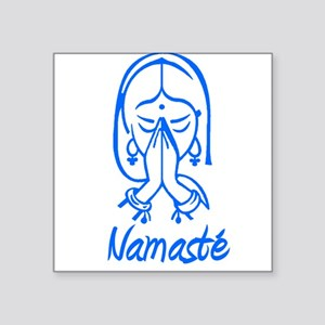 "namaste girl Square Sticker 3"" x 3"""