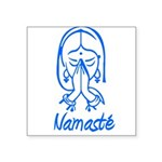 namaste girl Square Sticker 3