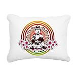buddha with flowers Rectangular Canvas Pillow