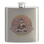 buddha with flowers Flask