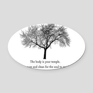 yoga tree Oval Car Magnet