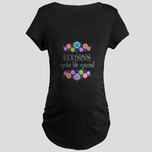 Cousins Make Life Special Maternity Dark T-Shirt