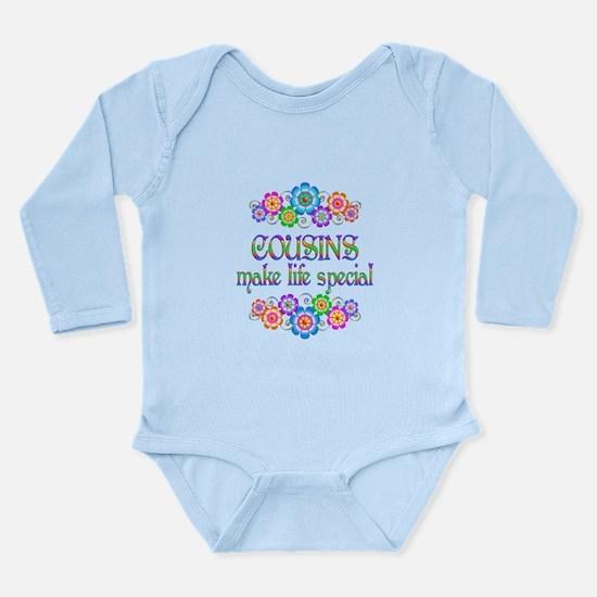 Cousins Make Life Spec Long Sleeve Infant Bodysuit