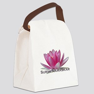 surya namaskar Canvas Lunch Bag