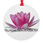 surya namaskar Round Ornament
