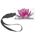 surya namaskar Large Luggage Tag
