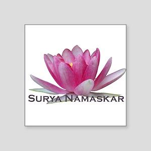 """surya namaskar Square Sticker 3"""" x 3"""""""