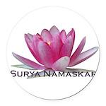surya namaskar Round Car Magnet