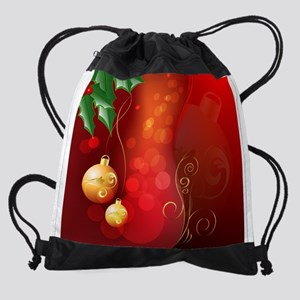 Christmas balls Drawstring Bag