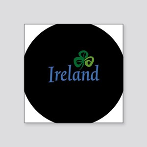 "ireland circle Square Sticker 3"" x 3"""