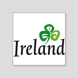 "Ireland shamrock Square Sticker 3"" x 3"""
