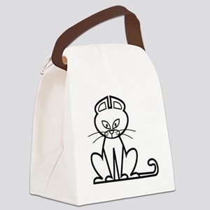 Funny Cat Canvas Lunch Bag