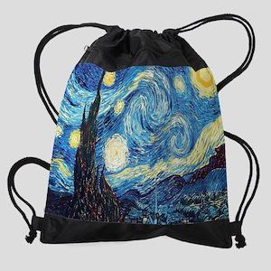 starry night  van gogh Drawstring Bag