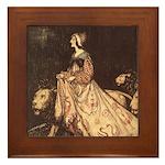 Rackham's Lady and Lion Framed Tile