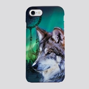 native dream catcher wolf nort iPhone 7 Tough Case