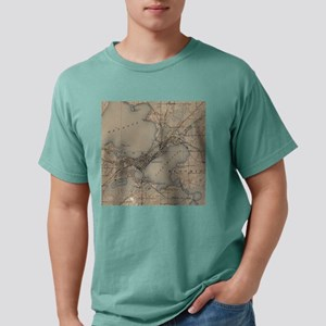 Vintage Map of Madison W Mens Comfort Colors Shirt