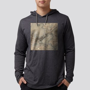 Vintage Map of Madison Wisconsin Mens Hooded Shirt