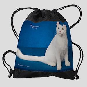 White Cats Drawstring Bag