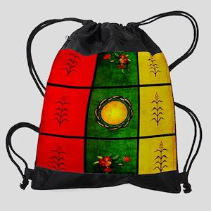 Red Yellow Green Tapestry Drawstring Bag