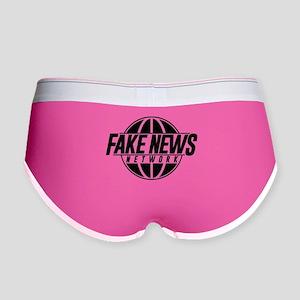 Fake News Network Distressed Women's Boy Brief