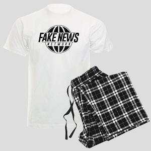 Fake News Network Distressed Men's Light Pajamas