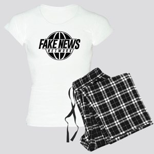 Fake News Network Distresse Women's Light Pajamas