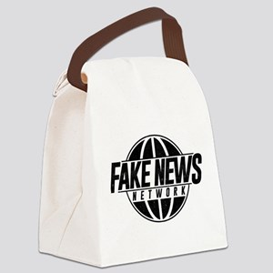 Fake News Network Distressed Canvas Lunch Bag