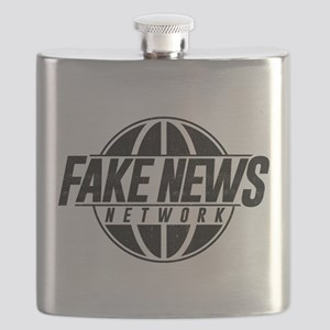 Fake News Network Distressed Flask