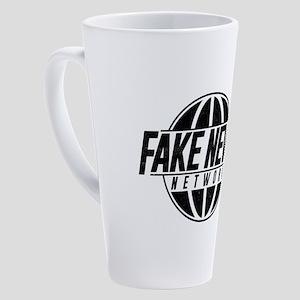 Fake News Network Distressed 17 oz Latte Mug